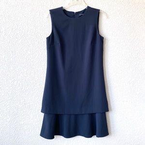 Antonio Melani Navy Blue Career Sleeveless Dress